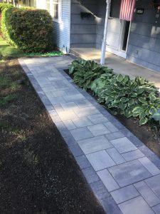 concrete patios, liverpool patios, paver walkways